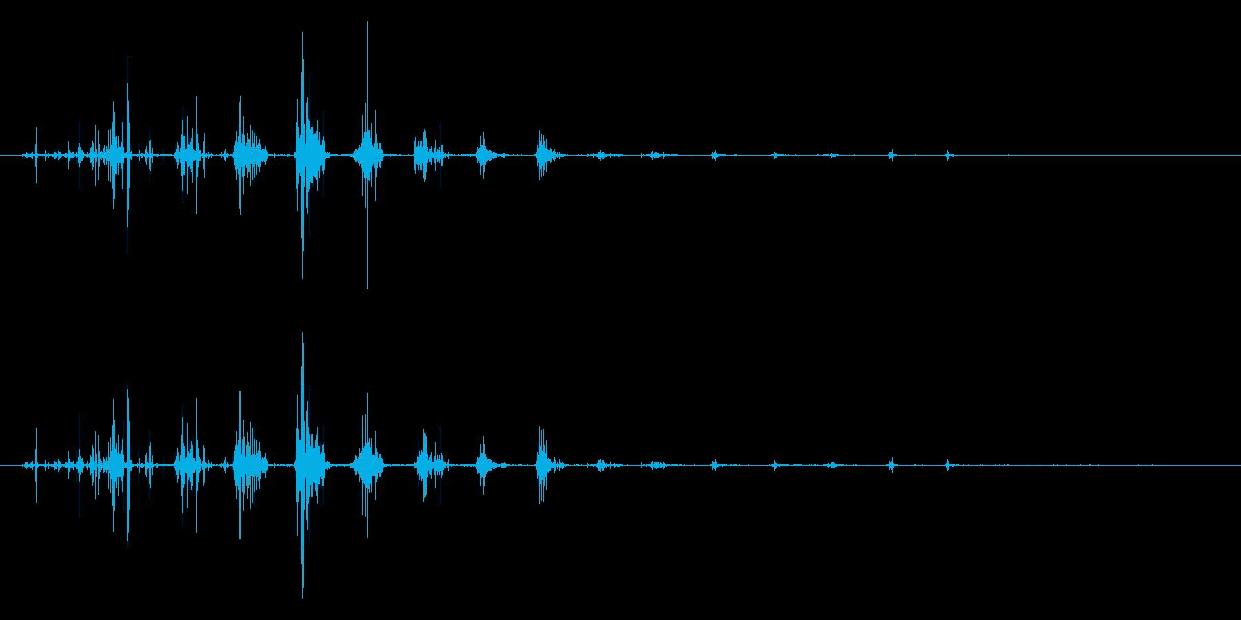 咀嚼音/カリカリ/ASMR/スナック菓子の再生済みの波形
