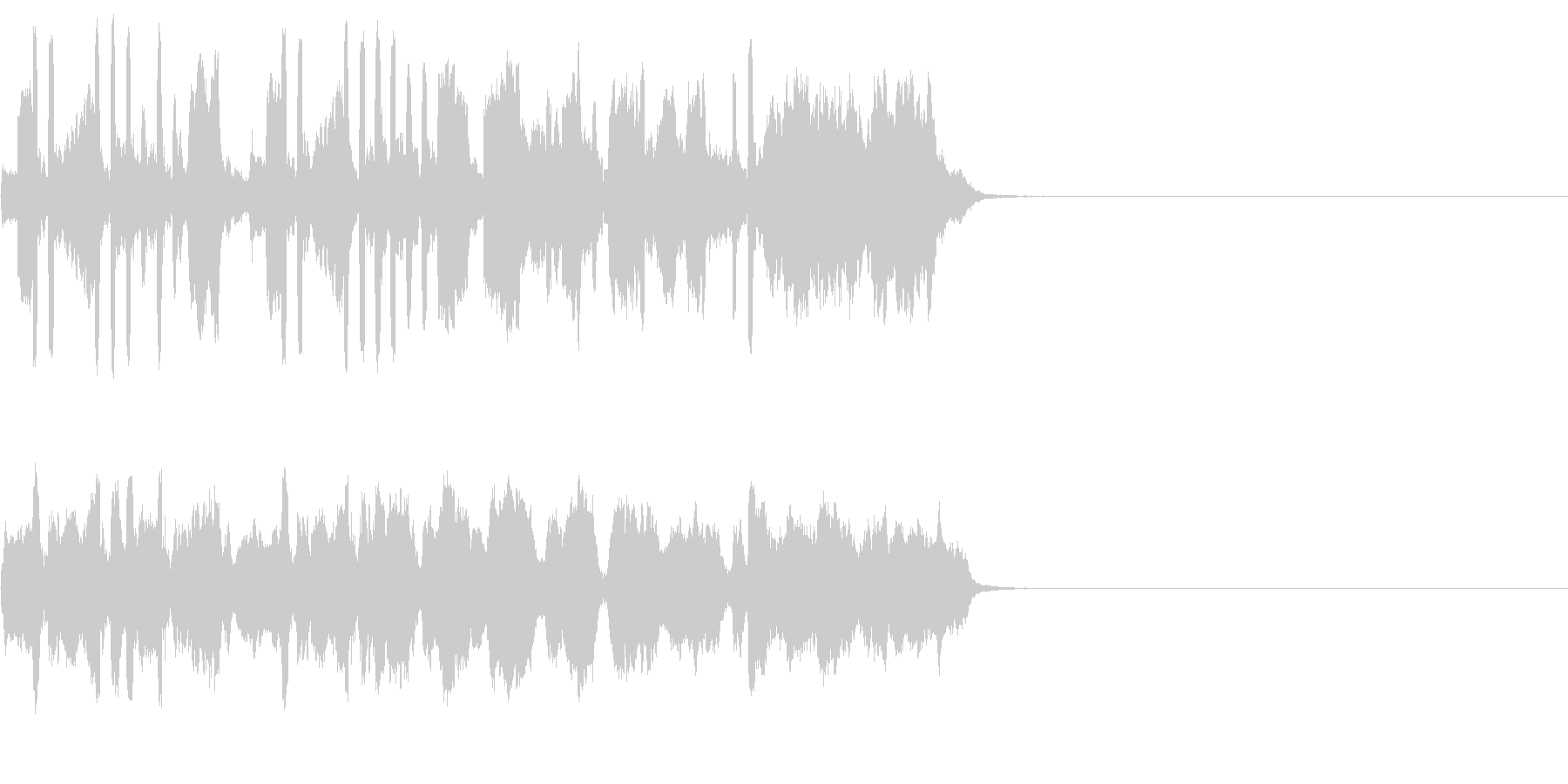 バロック風ジングルの未再生の波形