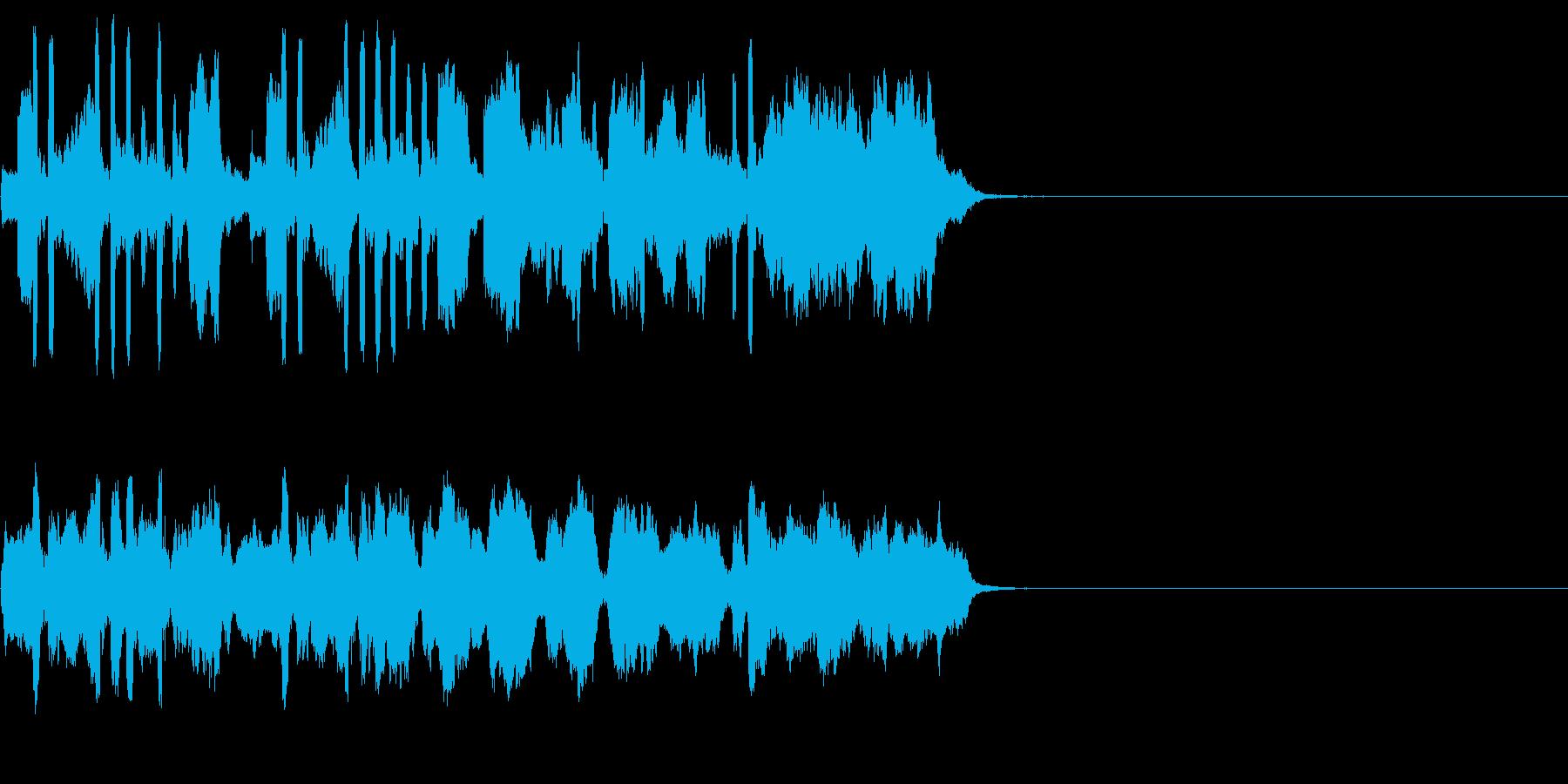 バロック風ジングルの再生済みの波形