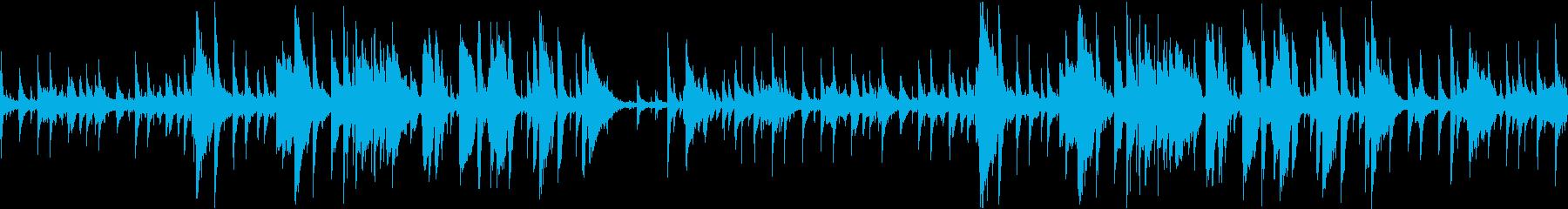 ベースレスのお洒落なジャズ ループ可の再生済みの波形