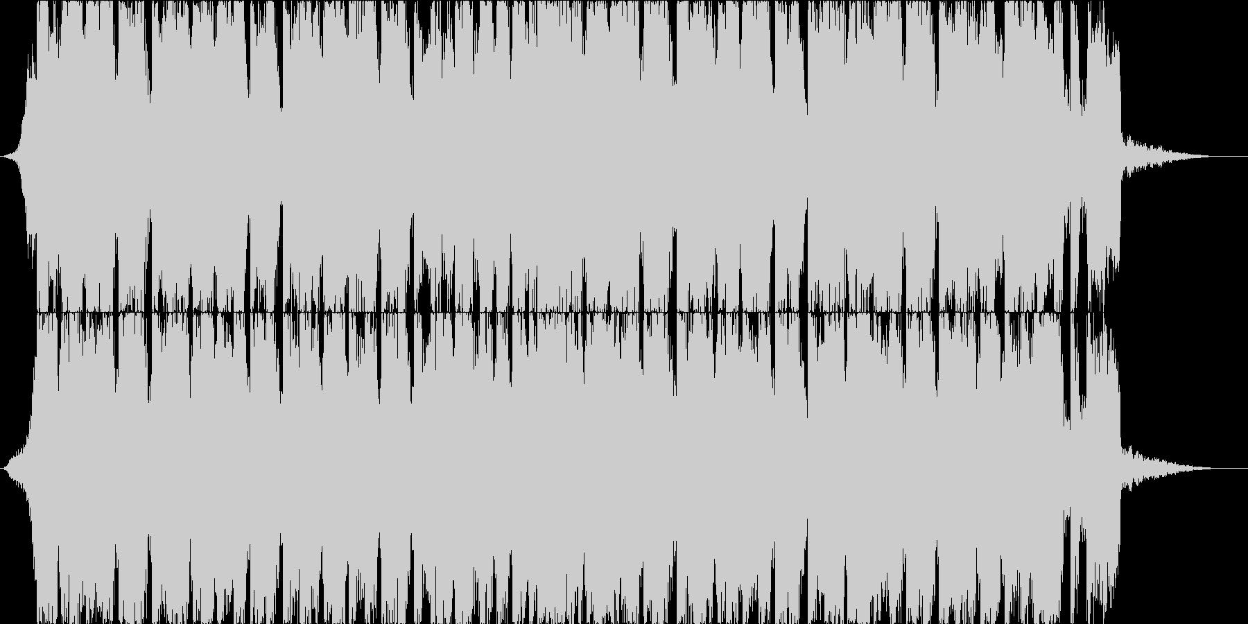 コミカルな4つ打ちジングルの未再生の波形