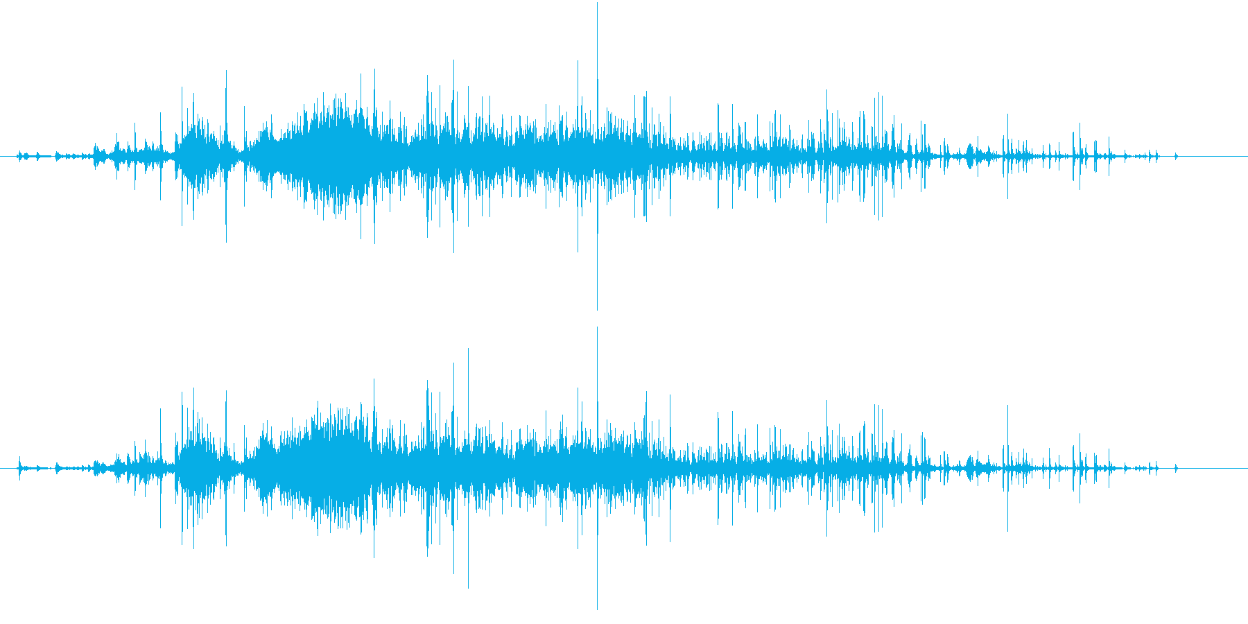 【生録音】ゴミの音 5 破き捨てるの再生済みの波形