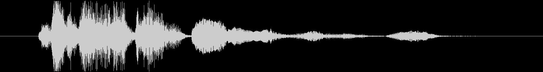 赤ちゃんの笑い声1の未再生の波形