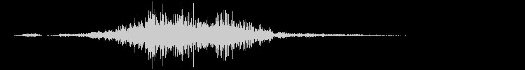 WHOOSHによるクイックノイズスナフの未再生の波形