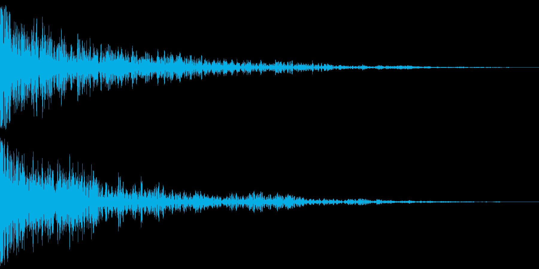 ドーン:金属の音が入っているインパクト音の再生済みの波形