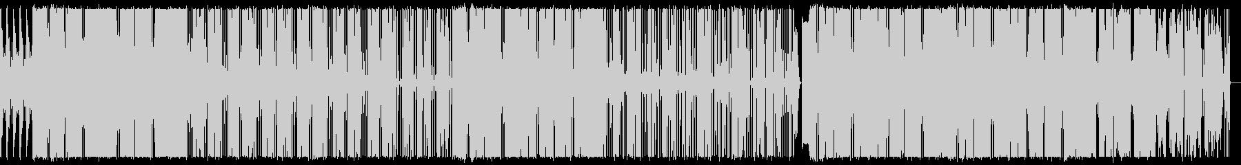 無機質でクールなHIPHOPビートの未再生の波形