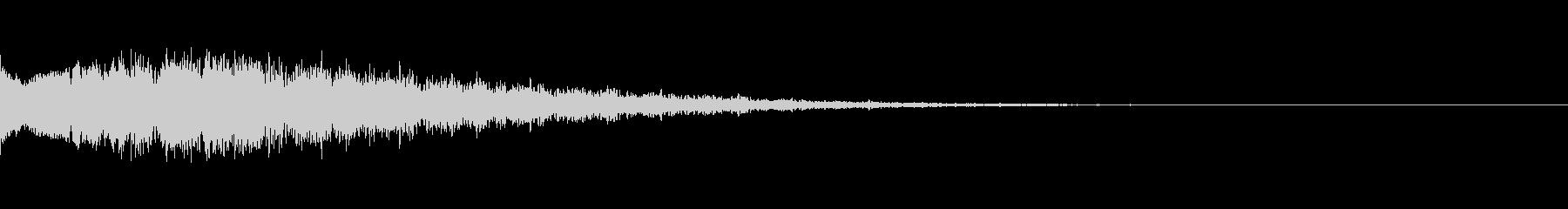 キューン:サイレンの様な音・場面転換dの未再生の波形