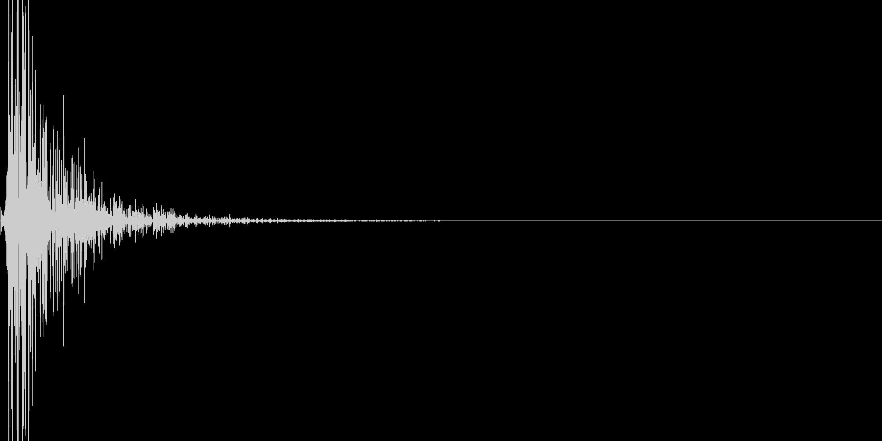 浴槽ハンマーヒットダンプニングの未再生の波形