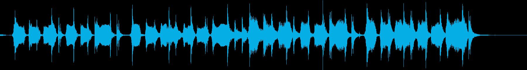 手拍子が入ったポップで覚えやすい明るい曲の再生済みの波形