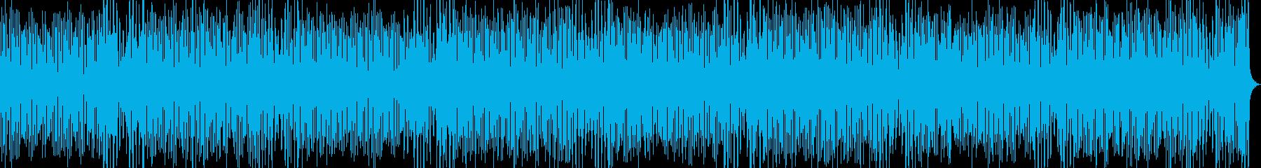 陽気な和風ゲーム曲の再生済みの波形