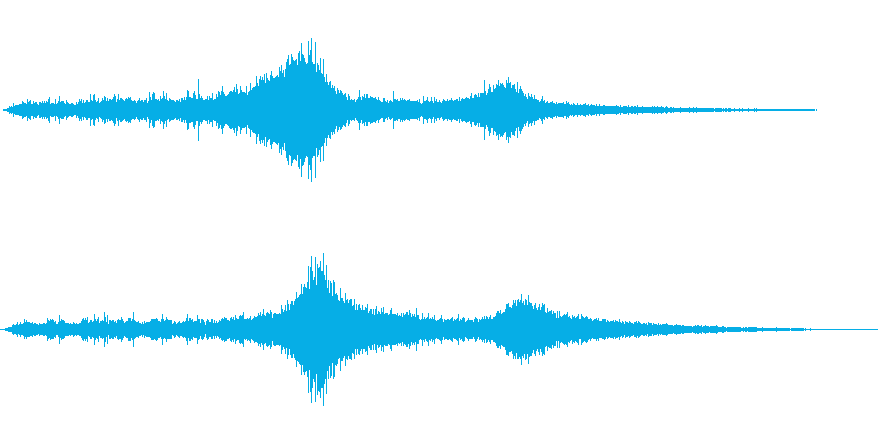 【生録音】 早朝の街 交通 環境音 3の再生済みの波形