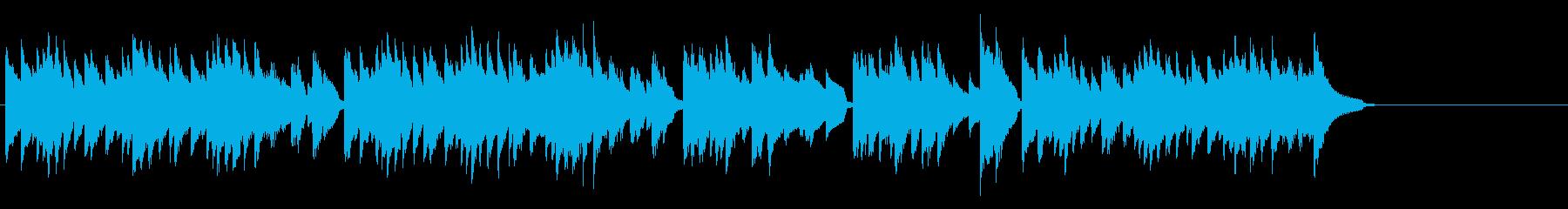 気怠いながらも明るいボサノバ風のピアノ曲の再生済みの波形