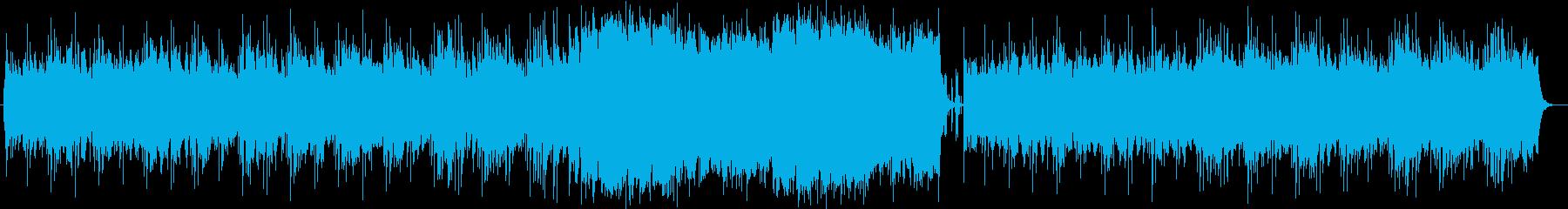 優しく流れるシンセ・ボイスサウンドの再生済みの波形