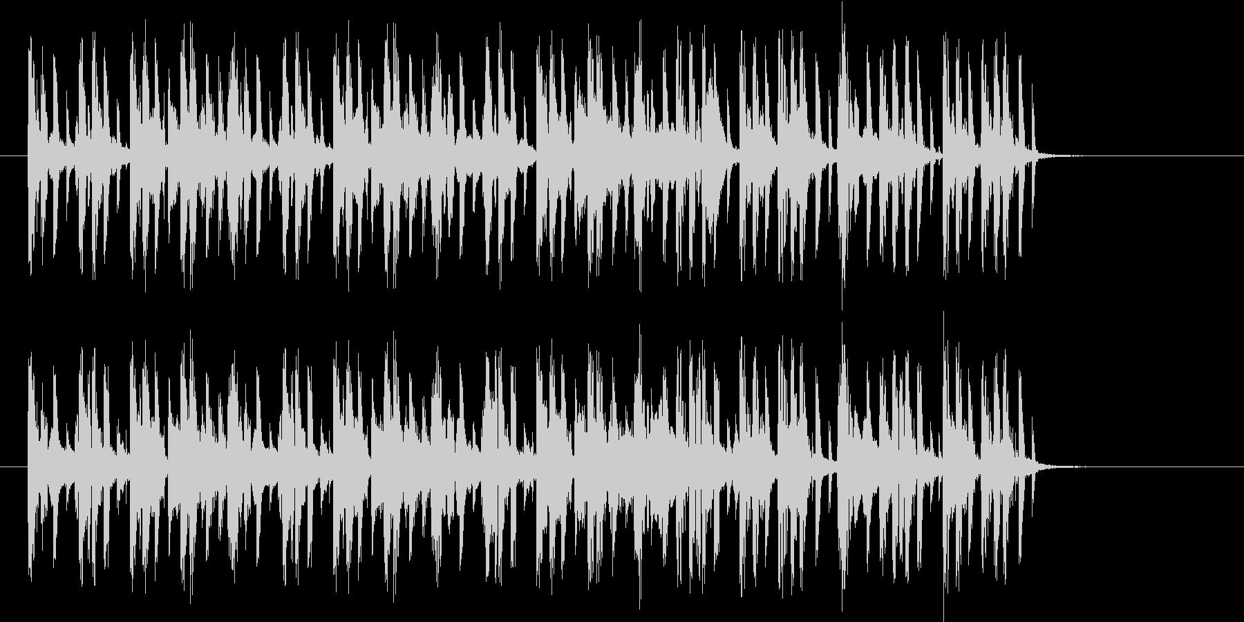軽快なテンポのテクノポップスの未再生の波形