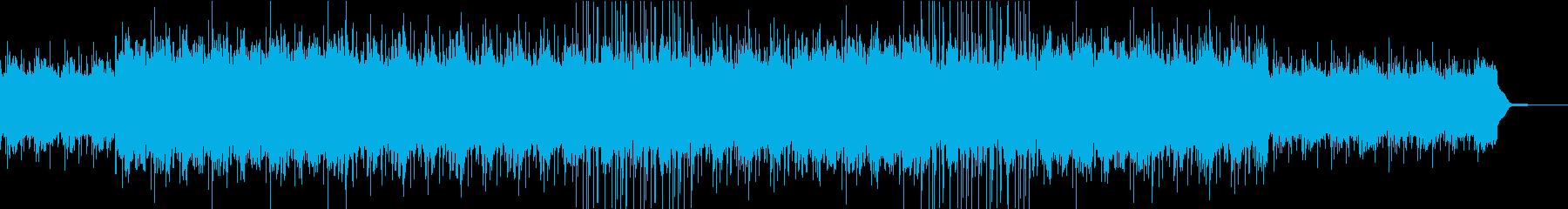 エモいビート風な曲の再生済みの波形