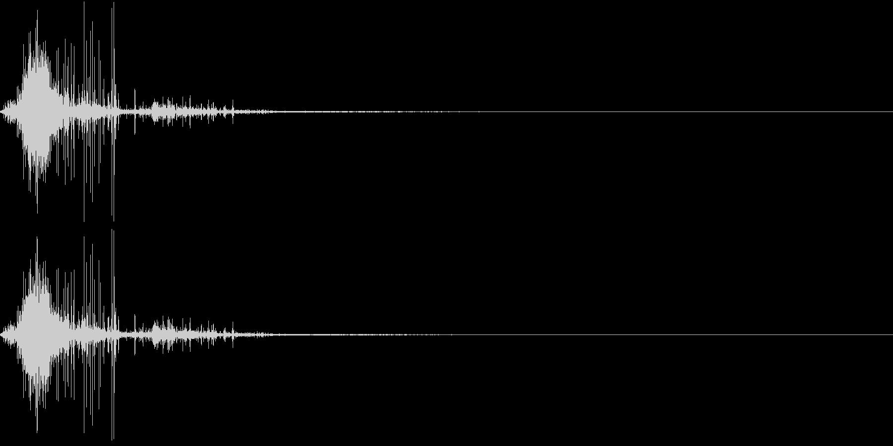 Zombie ゾンビの噛み付き音 2の未再生の波形