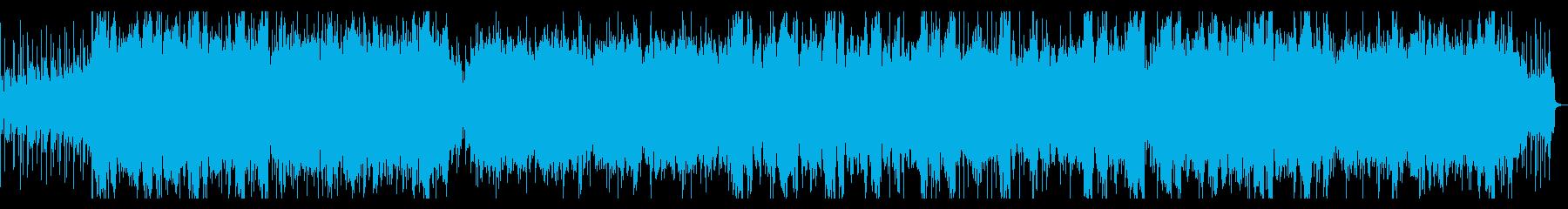 ダークな雰囲気のアイリッシュケルト風楽曲の再生済みの波形