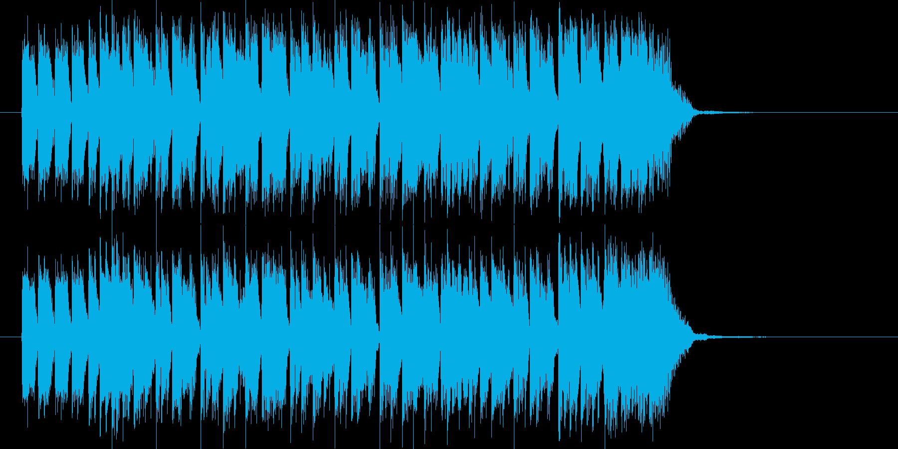 ディスコ調のテクノポップスのジングルの再生済みの波形