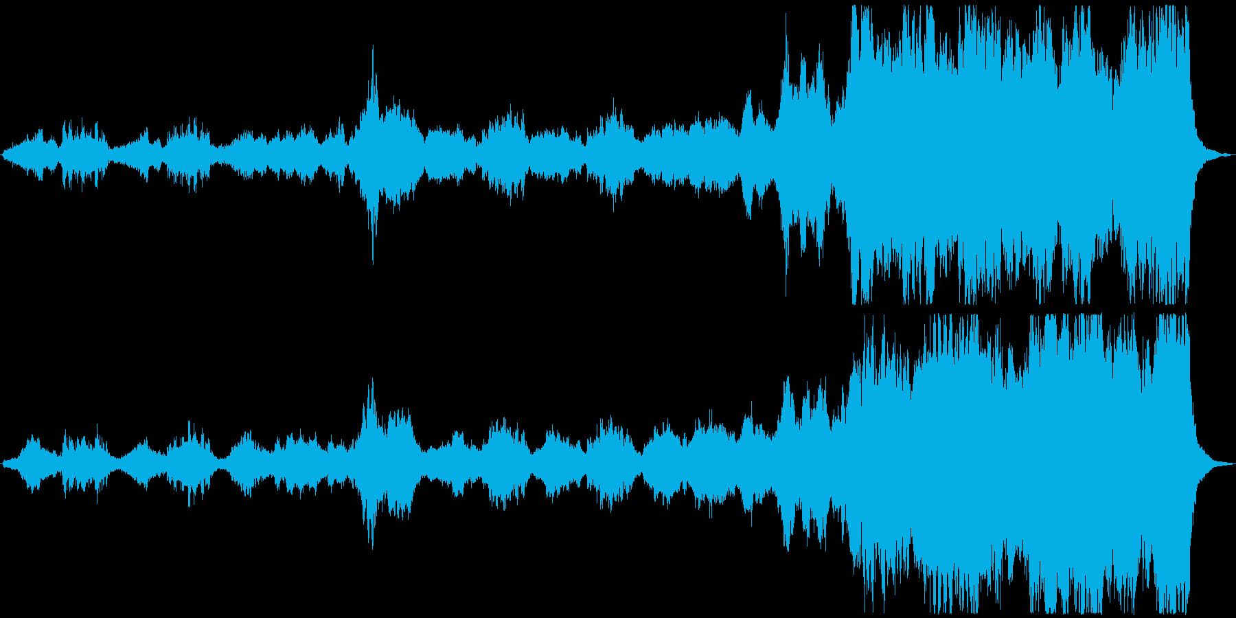 壮大で感動的なオーケストラの再生済みの波形