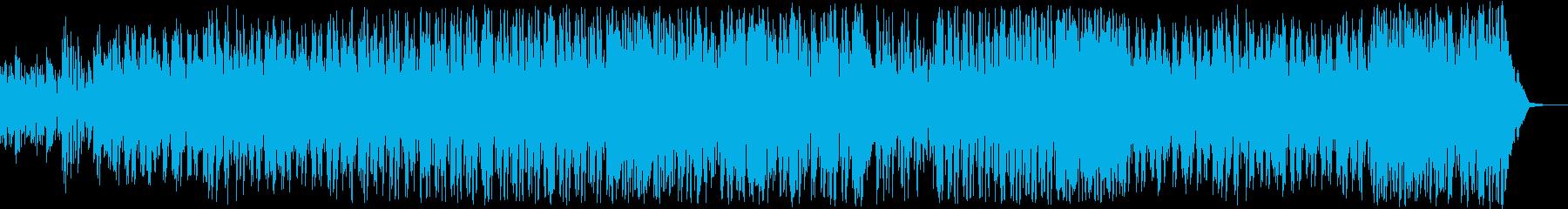 繰り広げられるバトルシーンのBGMの再生済みの波形