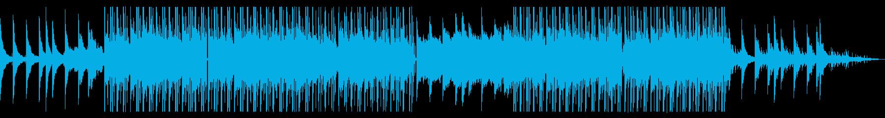 昼下がりの雑踏を歩いているイメージの曲の再生済みの波形
