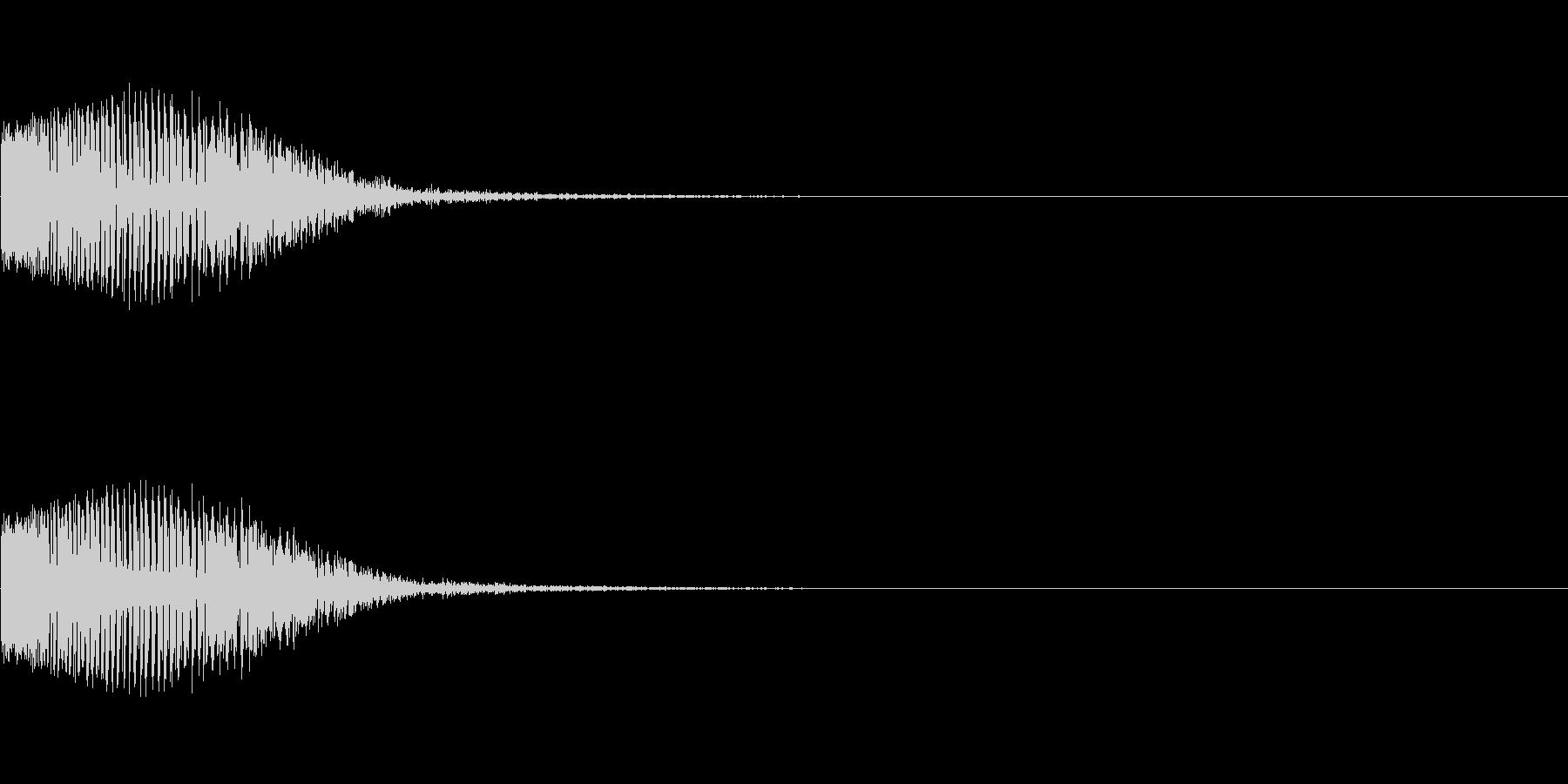 バン(殴る音、当たった音)の未再生の波形