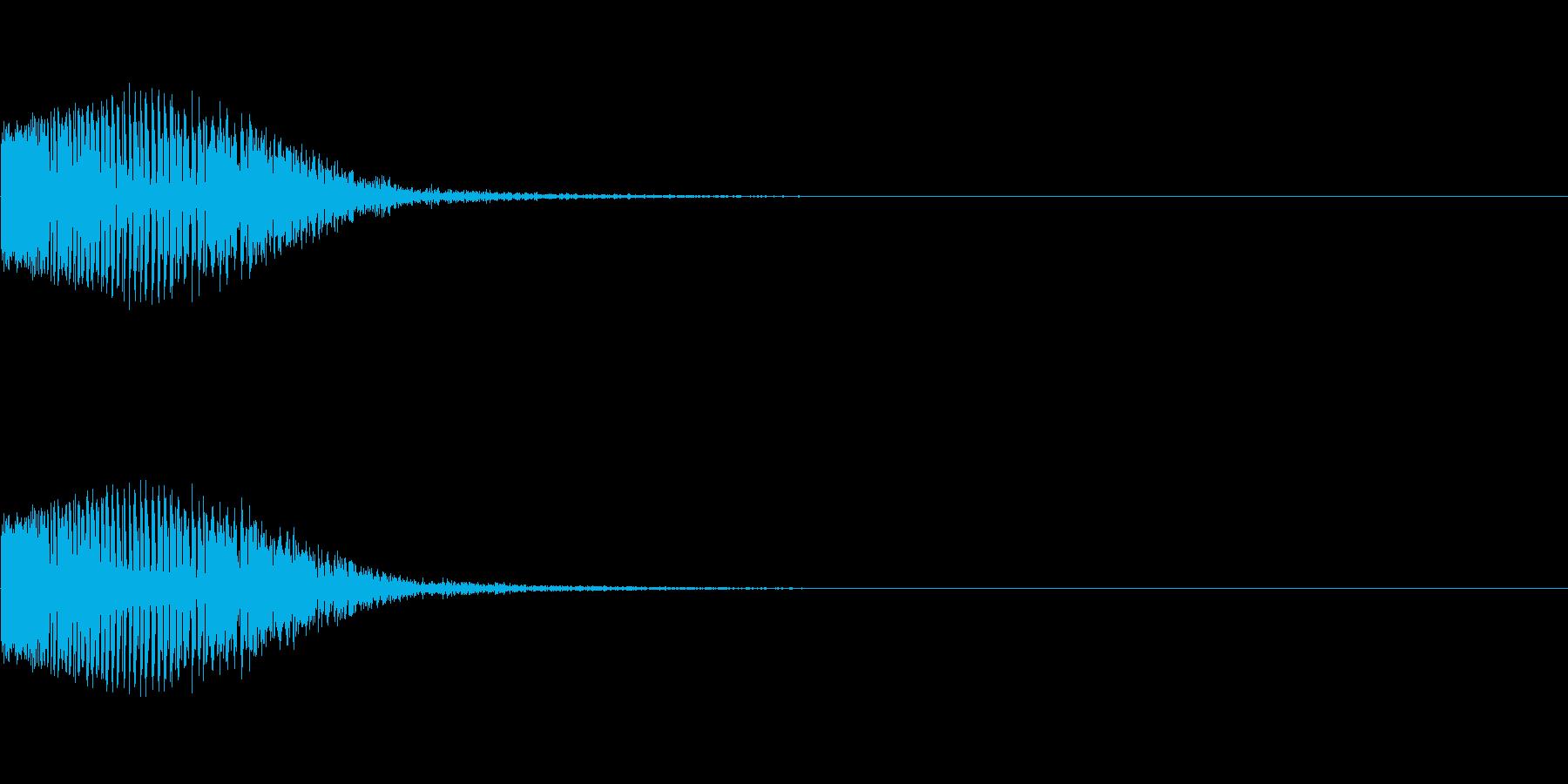 バン(殴る音、当たった音)の再生済みの波形