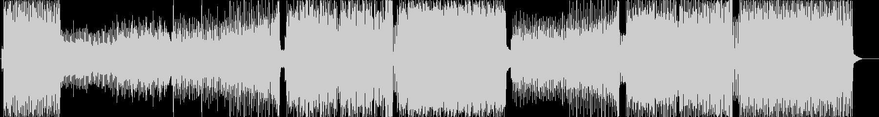 激しく速いEDMの未再生の波形