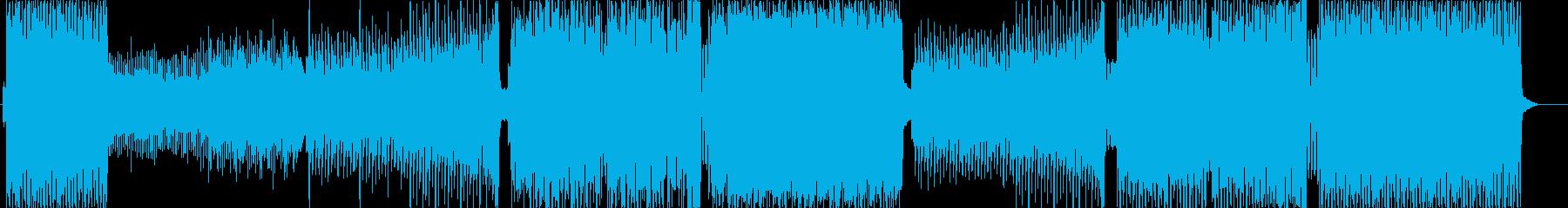激しく速いEDMの再生済みの波形