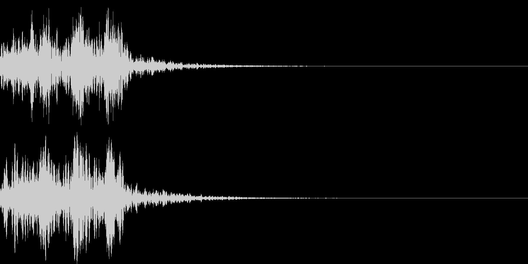 鼓(つづみ)太鼓のフレーズ ジングル01の未再生の波形
