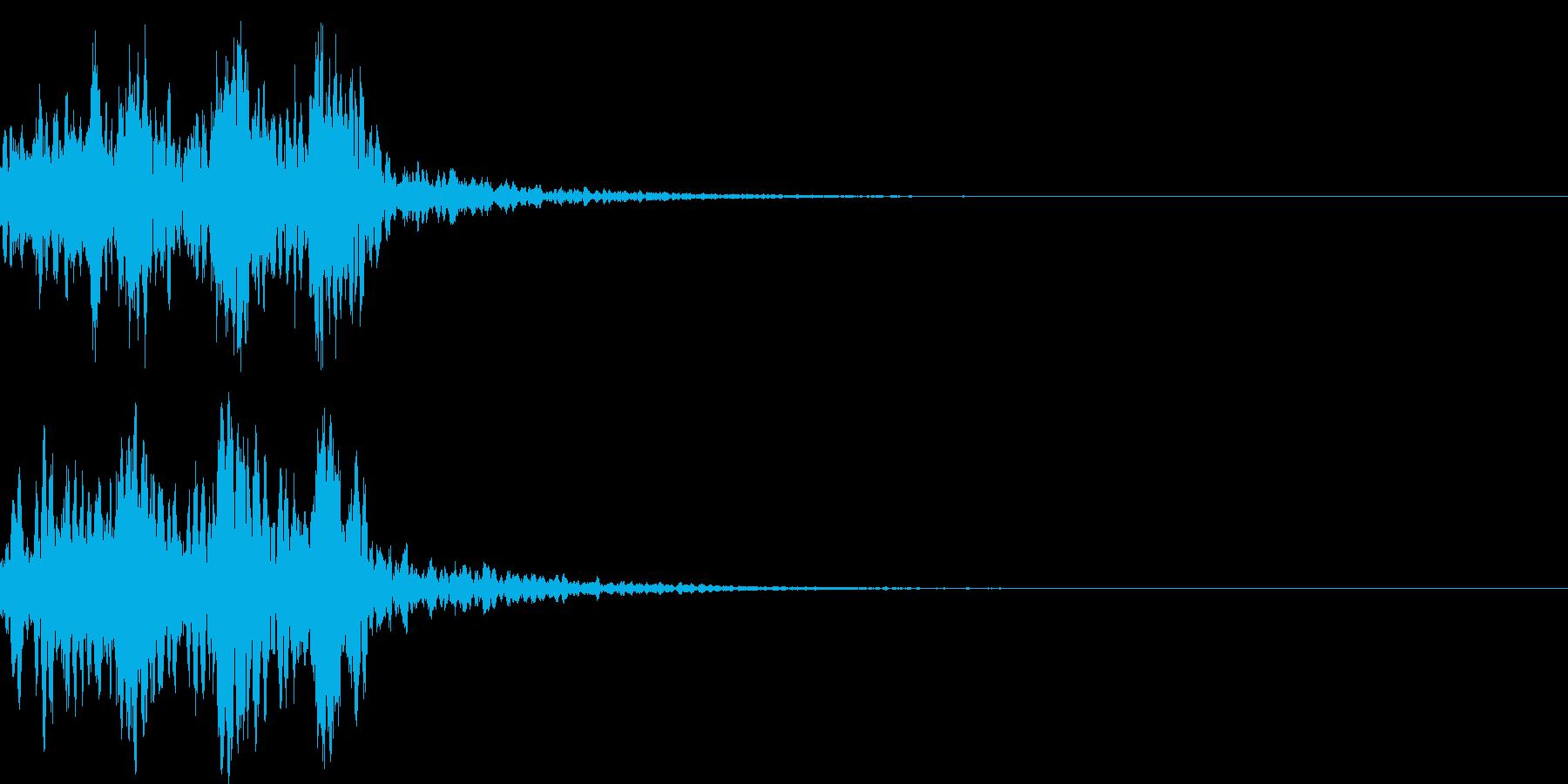 鼓(つづみ)太鼓のフレーズ ジングル01の再生済みの波形