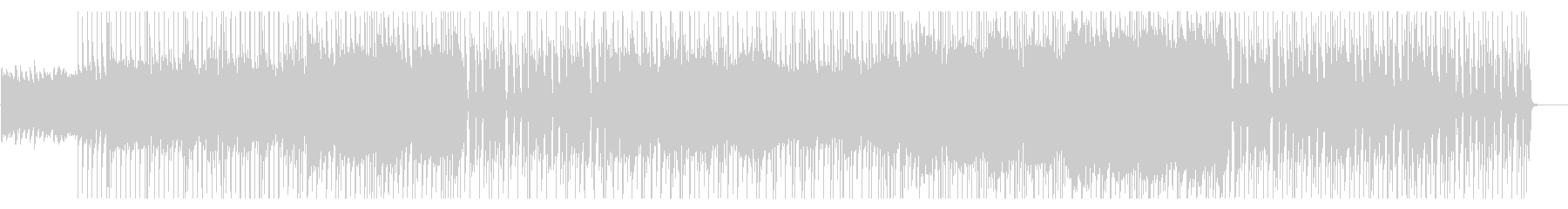 クリーンギターのフレーズが印象的なロックの未再生の波形