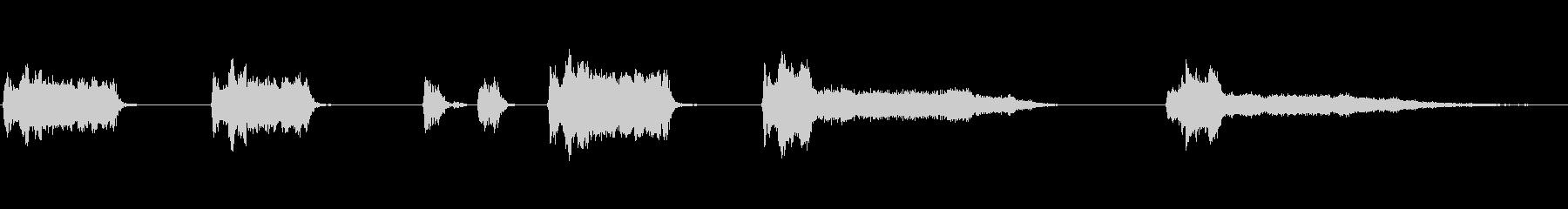 圧縮空気ディーゼルスターターの未再生の波形