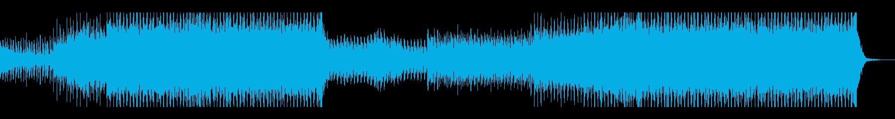 情熱的で元気が出るEDMの再生済みの波形