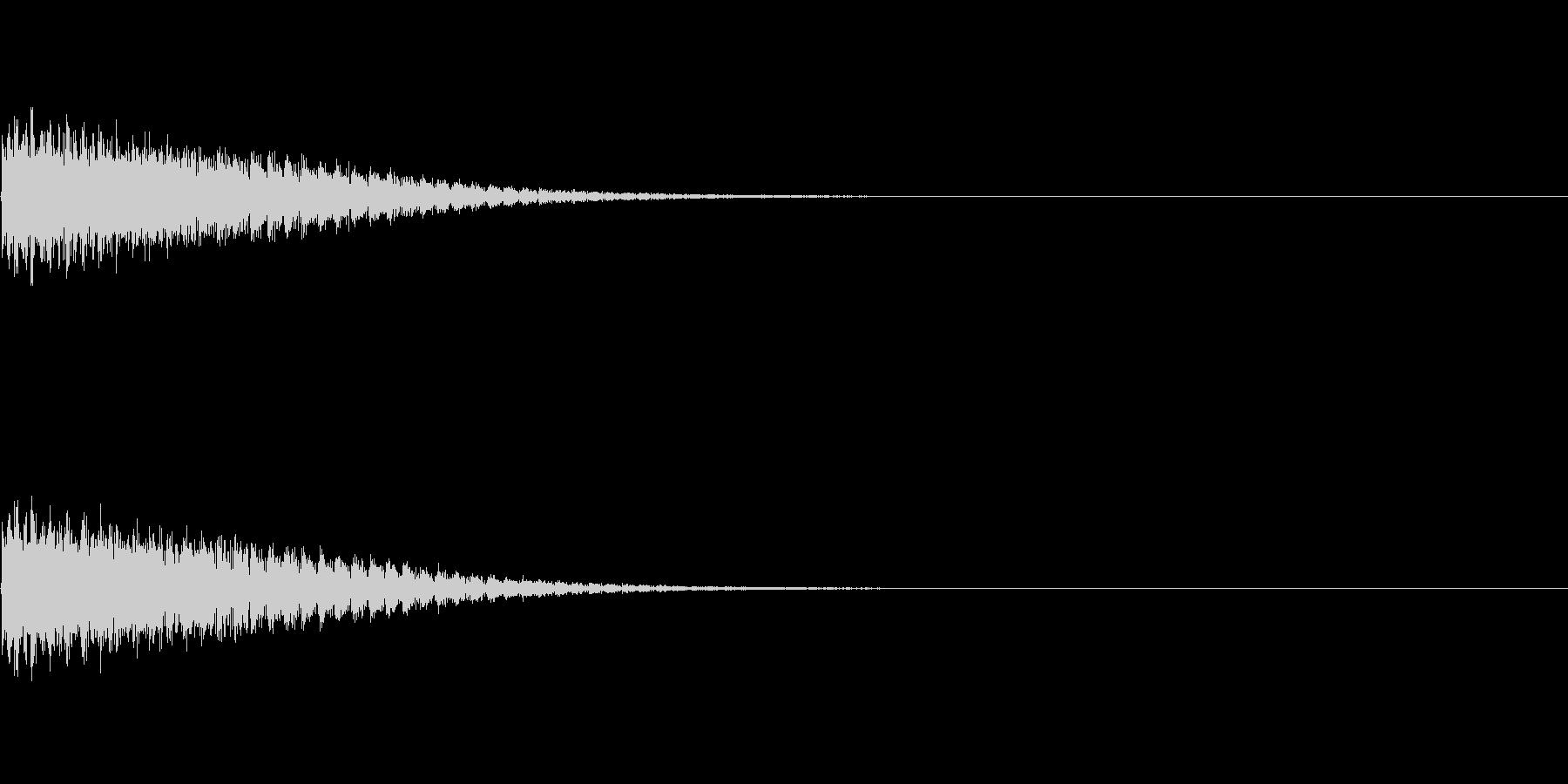 プルプルプルプル(攻撃が命中しなかった)の未再生の波形