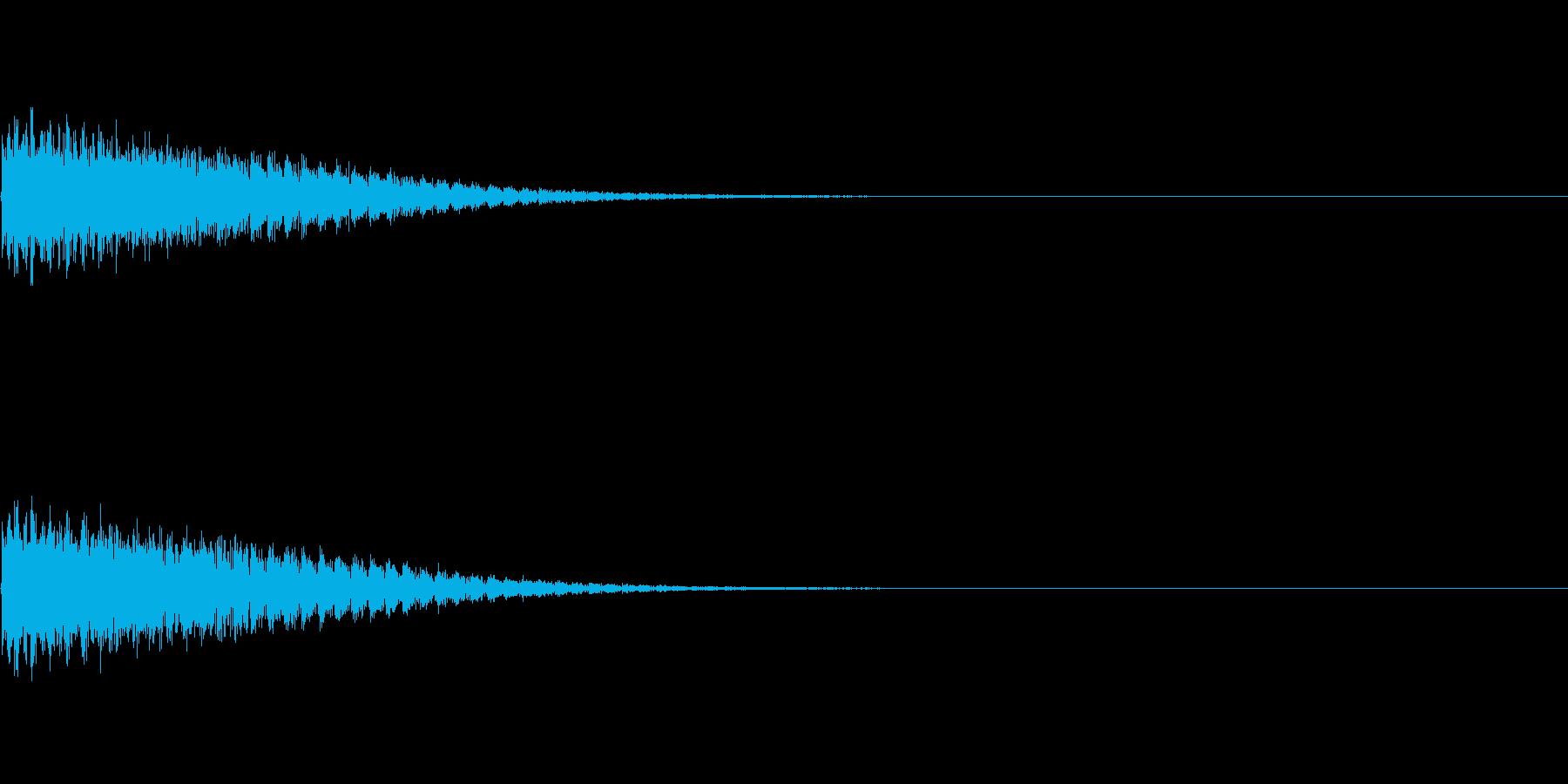 プルプルプルプル(攻撃が命中しなかった)の再生済みの波形