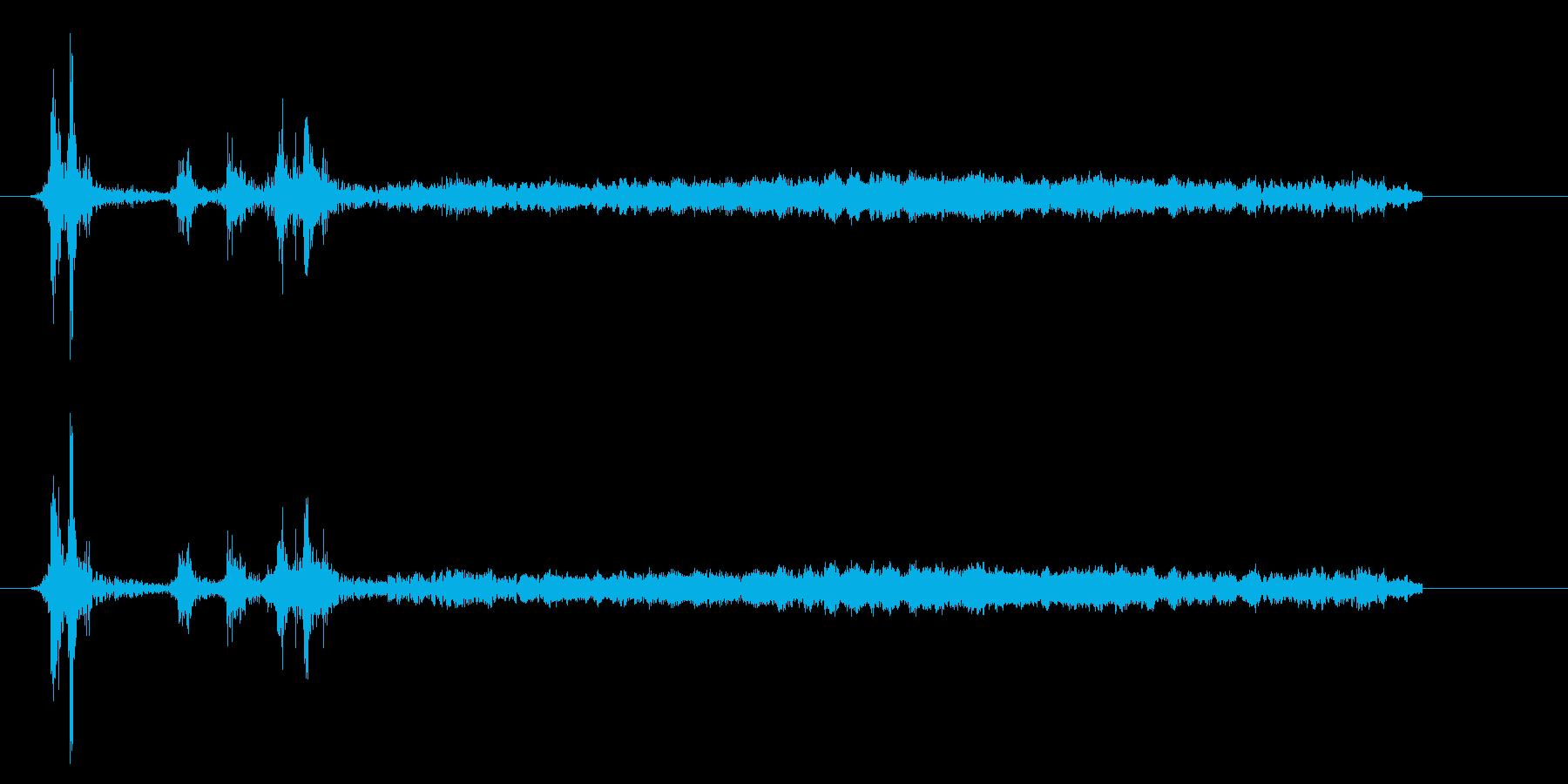[カメラ] シャッターを切る効果音02!の再生済みの波形
