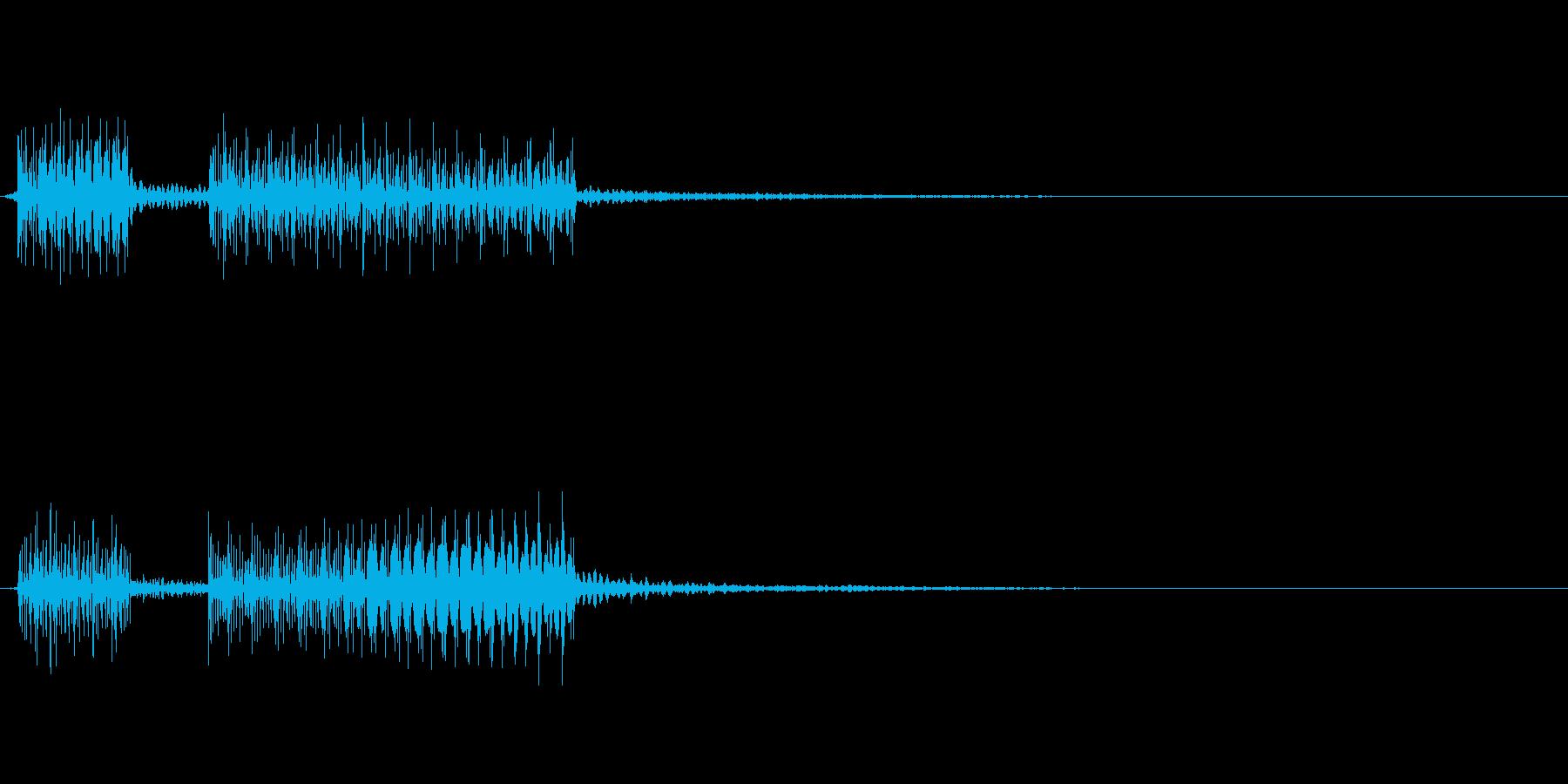 ブッブー!!というクイズの不正解、はず…の再生済みの波形