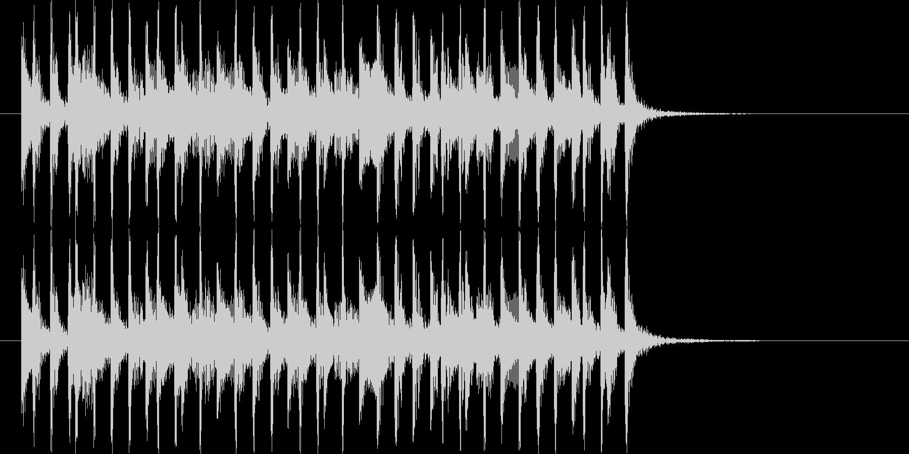 ミディアムテンポの懐かしいポップスの未再生の波形