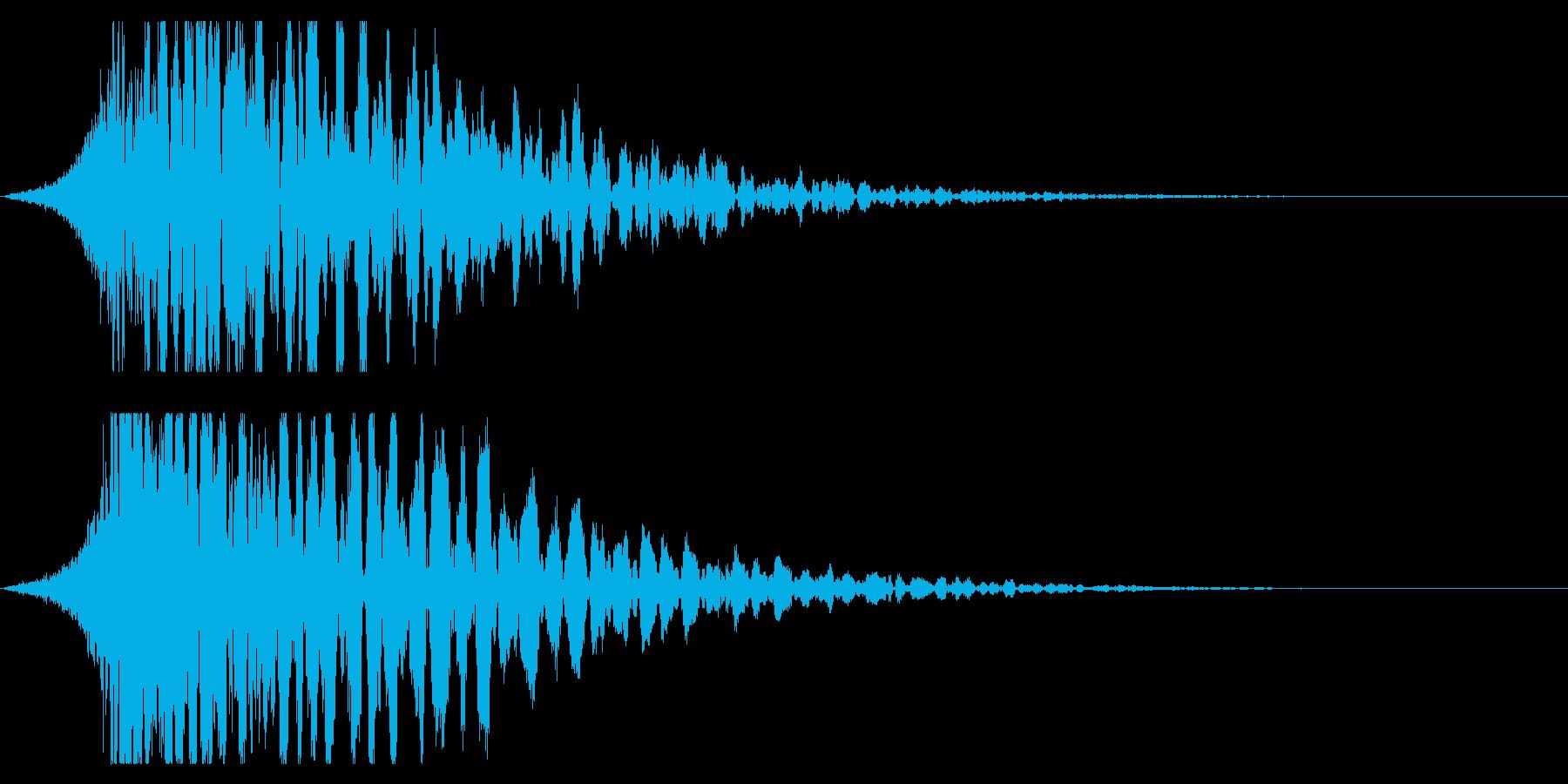 シュードーン-21-3(インパクト音)の再生済みの波形