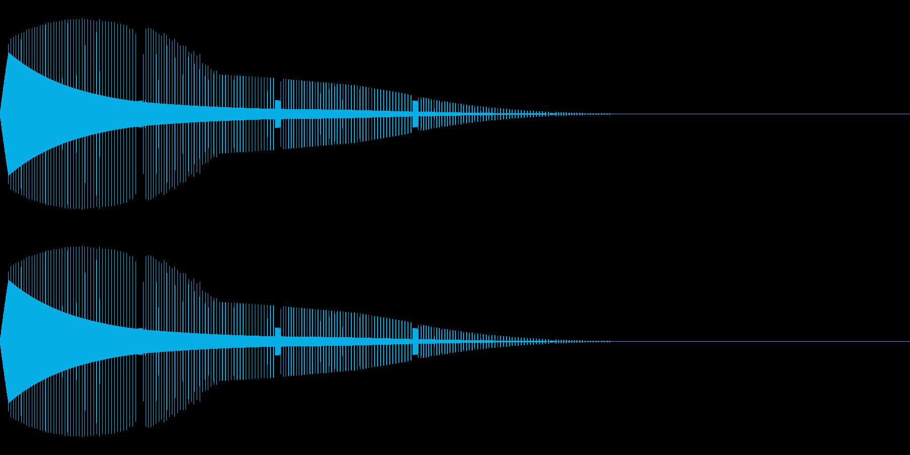 ピピピピ(サイレン/エラーゲームオーバーの再生済みの波形