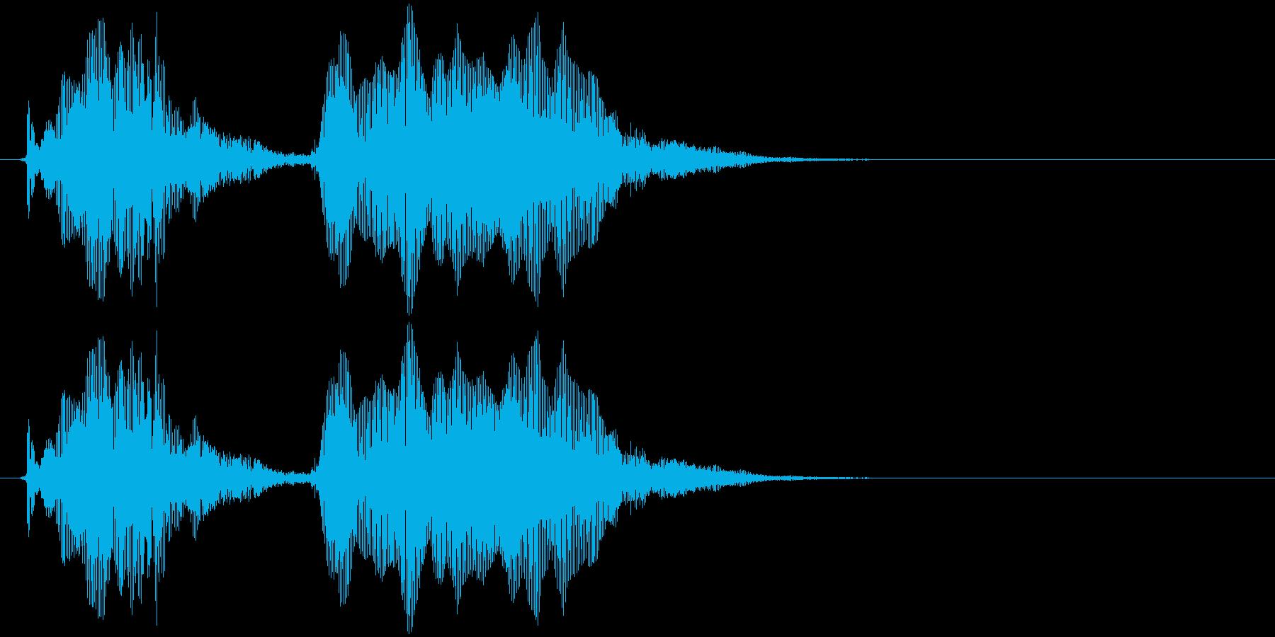 簡単(幼児)の再生済みの波形