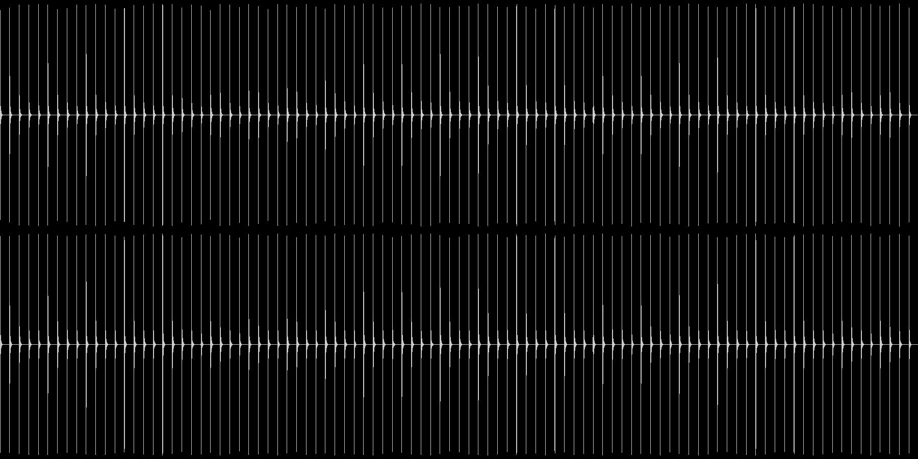 木製振り子メトロノーム14-BPM88の未再生の波形