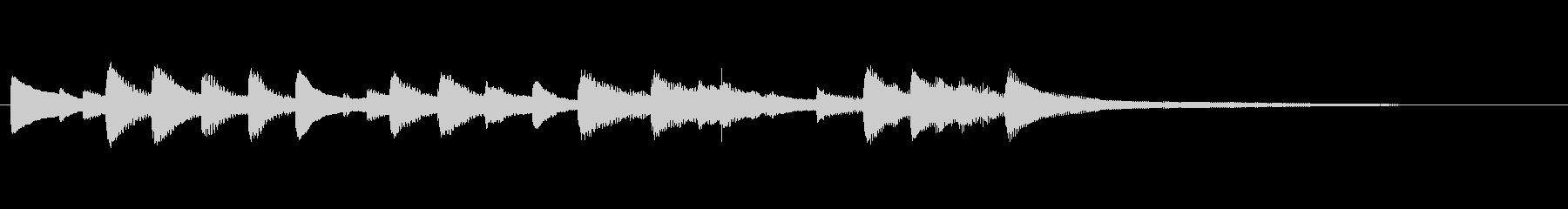 爽やかなピアノのオープニングジングル2の未再生の波形