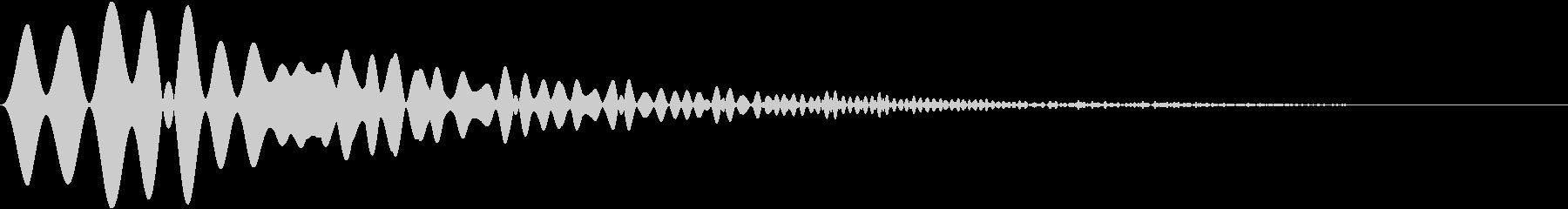 カーソル・決定・キャンセル音 「プョイ」の未再生の波形