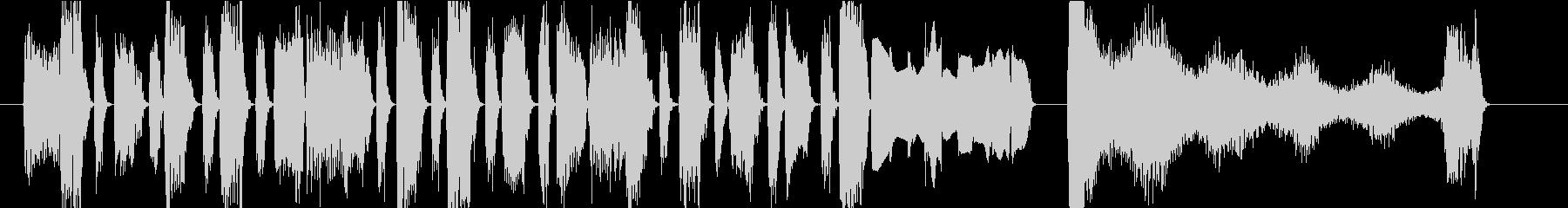 ファンキーなキーボードのジングルの未再生の波形
