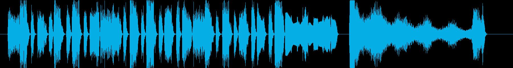 ファンキーなキーボードのジングルの再生済みの波形