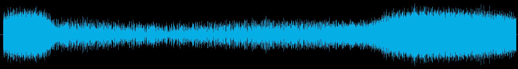 素材 ノイズスピンダウンドロップラ...の再生済みの波形