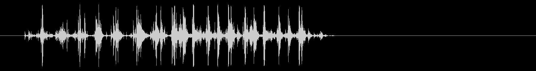 ジングル - ジュースをコップに注ぐ音の未再生の波形