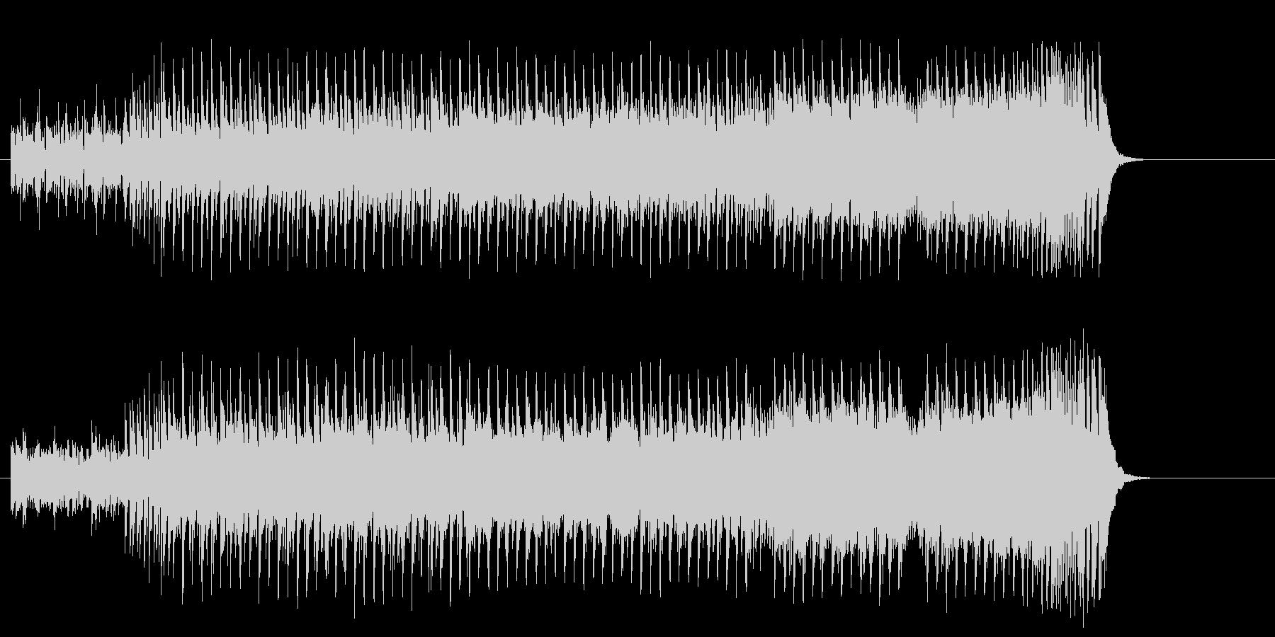打撃系サウンドマイナーエレクトロポップスの未再生の波形